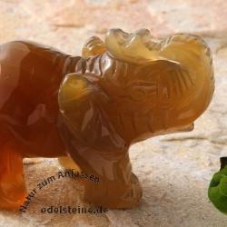 Elephant Figure Carneol