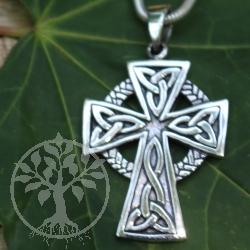 Silberkreuz Keltische Knoten Sterling 925