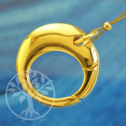 Ring Tigger Clasp 18 mm Gold plated polished
