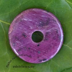 Rubin Donut Anhänger 20-25mm