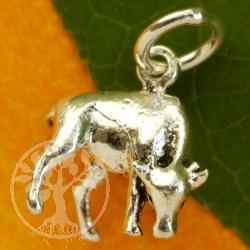 Wilde Kuh Anhänger Sterling Silber 925