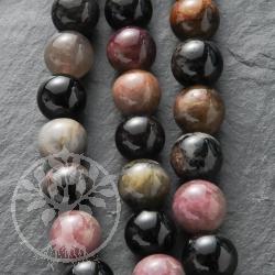 Turmaline Gemstone Beads Ball 08mm