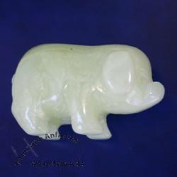 China Jade Gravur Schwein ca 40 mm