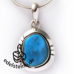 Turquoise Silver-Pendant 4