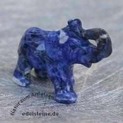 Elefanten Gravur aus Sodalith 39 mm