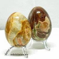 Onyx-Marmor Edelstein Ei 65*50mm Großes Osterei aus Stein