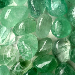 Fluorite Green Tumbled Stones Big Stones 200 Grams A Quality Wholesale 25-35mm
