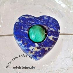Lapislazuli-Malachit Herz/Kugel klein