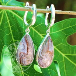 Agate earrings with Brisur from Truesilver 925