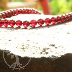 Granatperlen Perlen aus Granat Strang 6mmx40cm AA