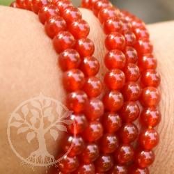 Karneol Kugelarmband kleine Perle 6mm A Qualität Karneolperlen