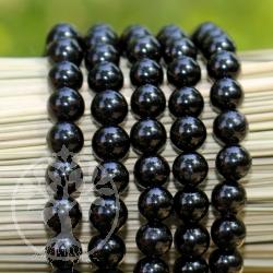Onyx /Obsidian Armband Kugelarmband 6mm Edelsteinarmband schwarze Perlen A