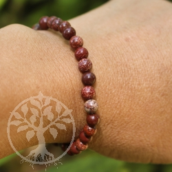 Red Jasper Bracelet Rainbow Beads 6mm