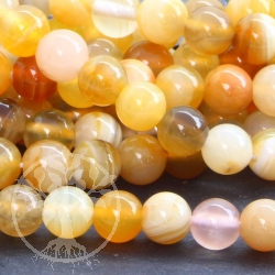 Botswana yellow Loose Beads Banded Agatebeads 6mm 40cm A Quality