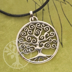 Tree of life Jewellery Sterling Silver Pendant 27mm