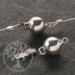 Sliding Ball Clasp 8 mm Sterling Silver
