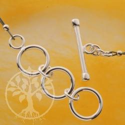 Ring-Stab Verschluss Knebelverschluss 38/22mm Silberverschluss 925