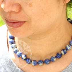Sodalite Neklace 45cm/12mm - Seadream