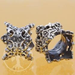 Silberperle doppelte Krone 925 TH20 Silber 925 Modulperle für Armband