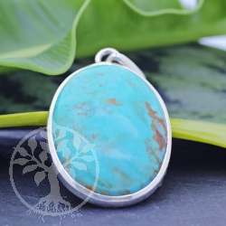 Turquoise Silver-Pendant 45x24 mm