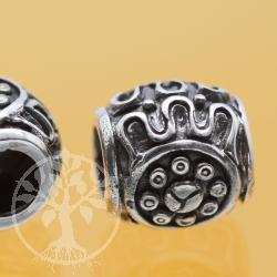 Oxidierte Silberperle 925 6mm Loch 10x10mm Silber925 Systemperle