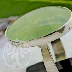 Prehnit silver Ring 925 Size 59