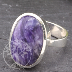 Chaorite Silver Ring with Chaorit gemstone Size 58 mm