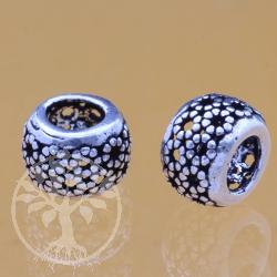 Oxidierte Silberperle 925 6x 10X8 mm Silber925