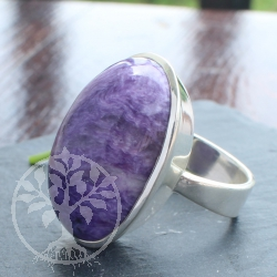 Chaorite Silver Ring 925 with Chaorite gemstone Size 58