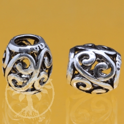 Thai sterling silver Tube Beads 925 6x9x10 mm