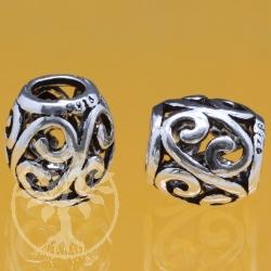 Silberperle 925 6mm 9X10 mm Silber 925