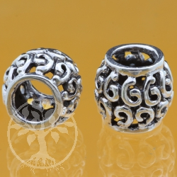 Oxidierte Silberperle 925  6x10x10 mm