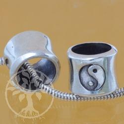 Silberperle längs Yin  Yang  8x9x10 mm