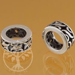 Oxidierte Silberperle 925 6X5X10 mm