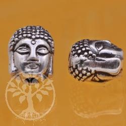 Silberperlen Thai Buddha  Silber 925 2mm Loch in der Perle 8x9 mm Buddakopf Modulperle