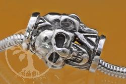Silberperlen Thai 3 schädel Silber 925 10 mm Loch in der Perle13x20 mm Modulperle Skull