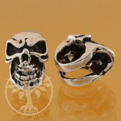 Silberperlen Thai  schädel Silber 925 8 mm Loch in der Perle 10 mm Modulperle