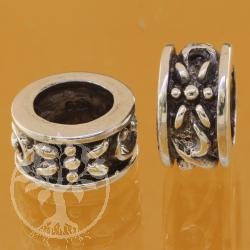 Silberperlen Thai  Silber 925 8 mm Loch in der Perle 9x13 mm  Modulperle