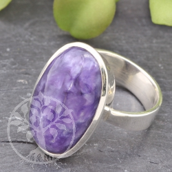 Chaorite silver Ring with Chaorite gemstone Size 55