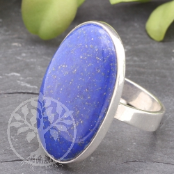 Sterring silver Ring Lapislazuli gemstone 925 Ring Size 59 mm