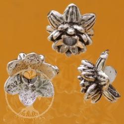 Perlenkappe Doppel Blüte Silberperle wie Perlenkappe Bead Cap 925 Silber 5X5 mm