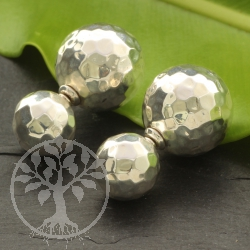 925 Silver Earring Ball Design Big Ball 17x17 mm Small 11x11 mm