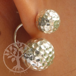 925 Silver Big Earring Balls Design Big Ball 14x14 mm Small 10x10 mm