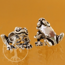 Frog Quaki Silverbead Frog Shape Bead Hole 5mm Sterlingsilver  925