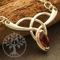 Granat Silbercollier Rote Schwester mit facettiertem Silber 925 Halskette Länge 45 cm