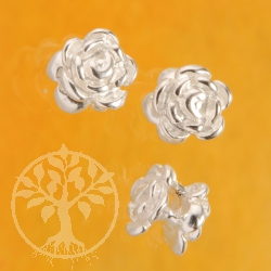 Spacer Rose 4mm Silver 925 rose Beads