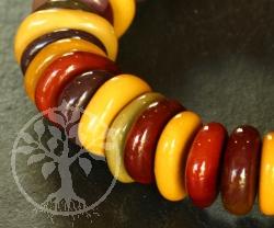 mookait Armbandschmuck Flache Perlen Scheiben 2/4/8*13 mm