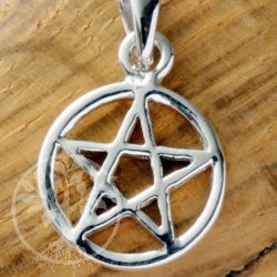 Pentagram silver jewelry pendant 30mm