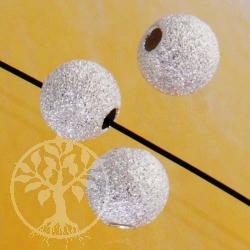 3mm Silberperle diamantiert klein 925er Sterlingsilber Perle 1.2mm Loch