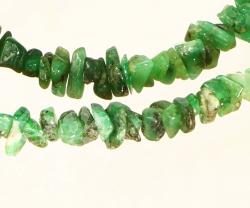 Smaragd Splitterkette 60 cm mit Silberverschluss 925